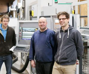 Glulam production at the push of a button: The bosses at Stabilame have found an intelligent solution.